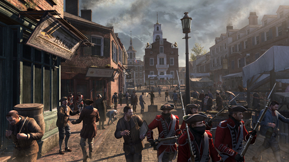 Colonial Boston as seen in Assassins Creed 3