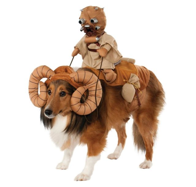 Pictured: Sand Person on a bantha