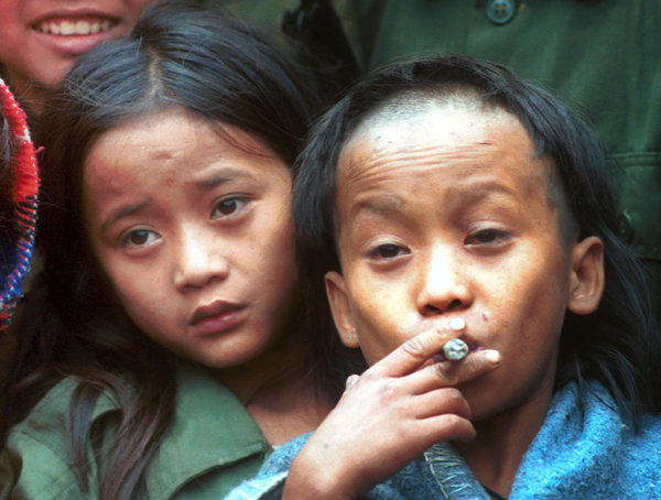 Johnny, left, and Luther Htoo, age 12, in 1999. Credit Apichart Weerawong/Associated Press