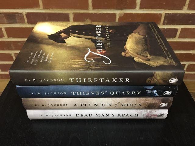 Thieftaker Chronicles book-haul pic