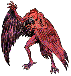 The aarakocra as depicted in the 2ed Monstrous Manual.